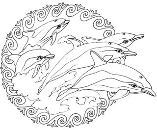 Mandala-dauphins